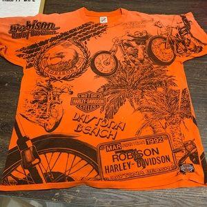 Vintage 1992 Harley Davidson Daytona FL Tee SZ XL